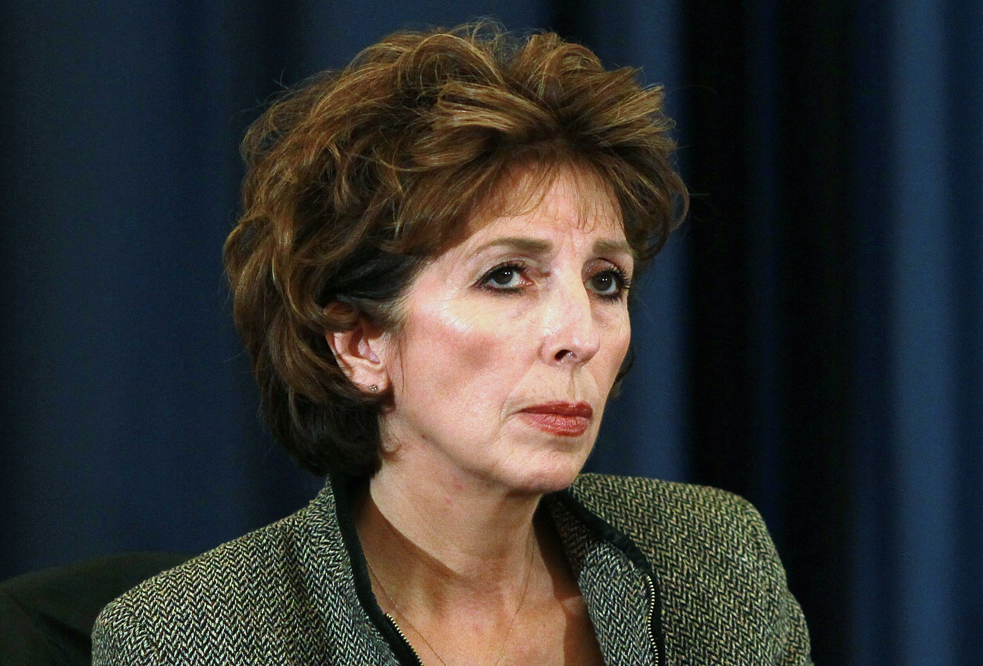 Linda Katehi at a 2011 UC Regents meeting at UC Davis.