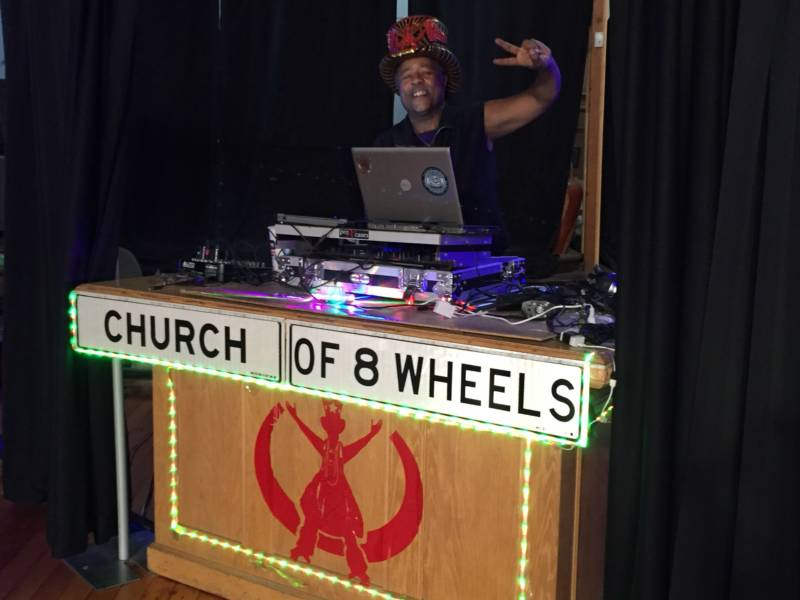 "David G. Miles, Jr. created the Church of 8 Wheels. In addition to skating, the ""Godfather of Skate"" sometimes mans the DJ booth."