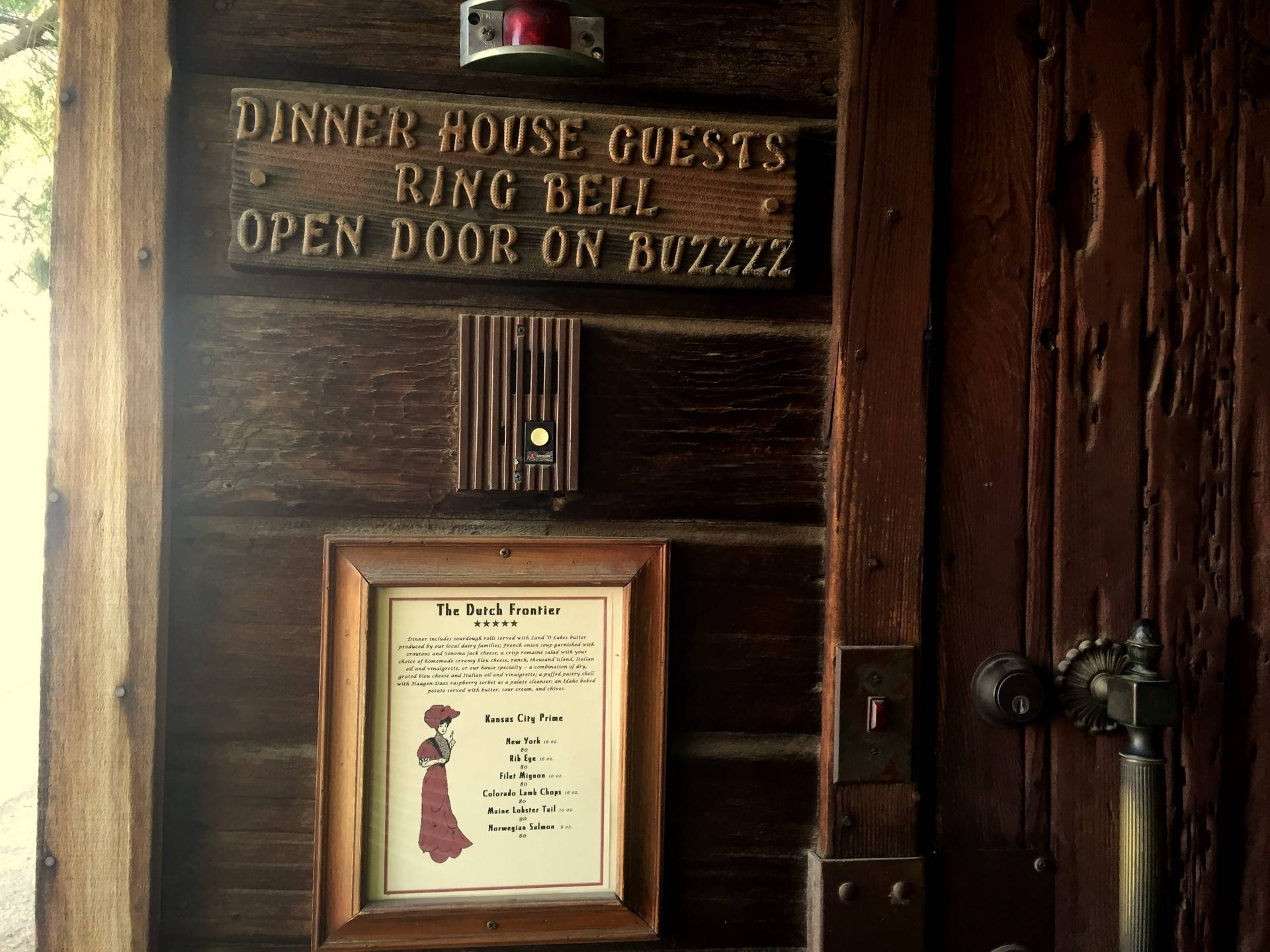 A meal at the Dutch Frontier restaurant is by appointment only. You have to buzz your way in through the front door.  Karl Kaku/KQED