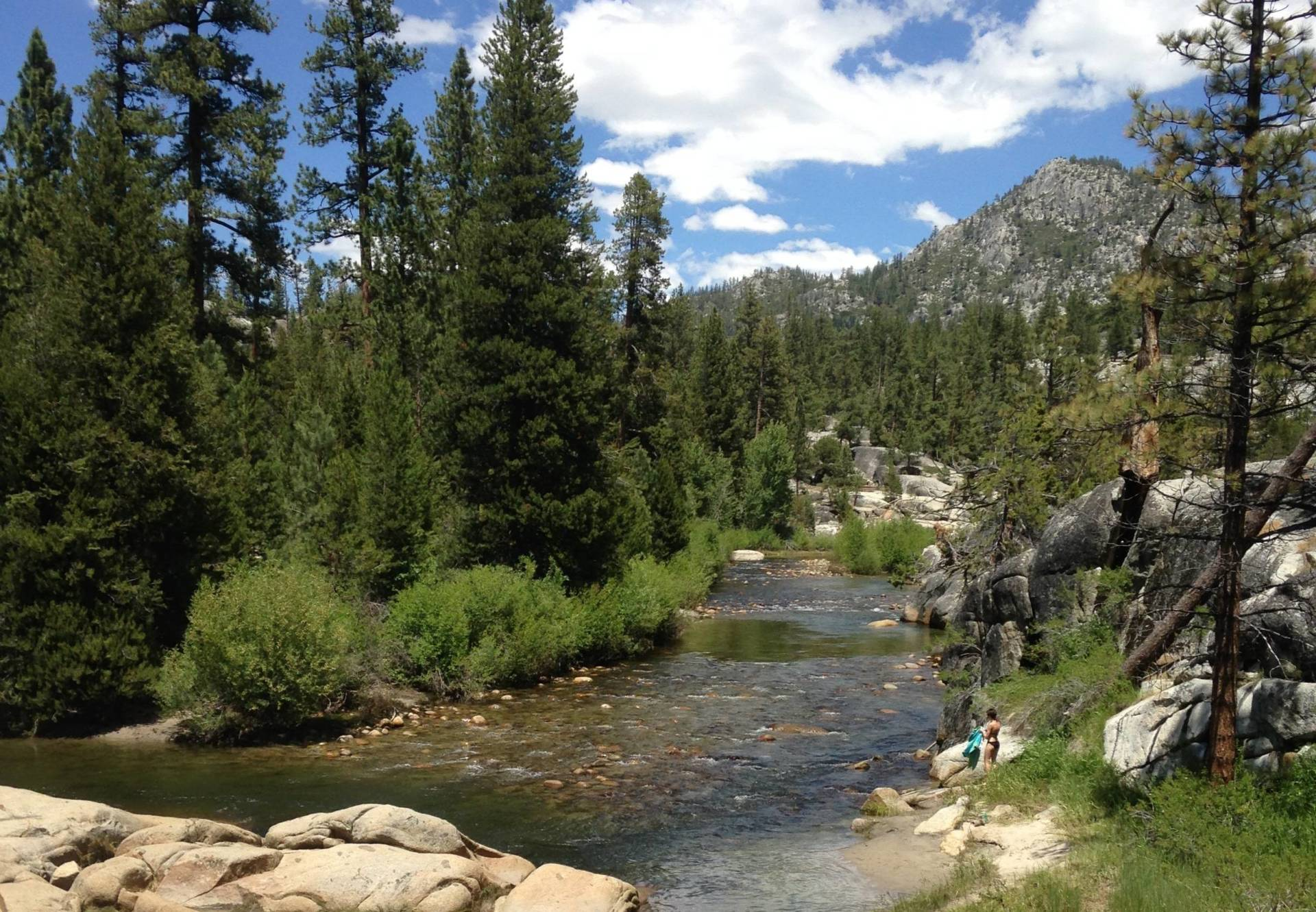 The San Joaquin River runs through Mono Hot Springs.