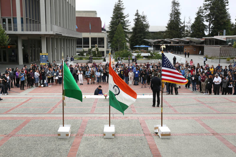Over a hundred people attended a vigil for 19-year-old UC Berkeley student Tarishi Jain, one of the victims of an attack at a Dhaka cafe in Bangladesh on July 2,2016. The vigil was held on UC Berkeley's campus in Berkeley, Calif. on July 5, 2016.