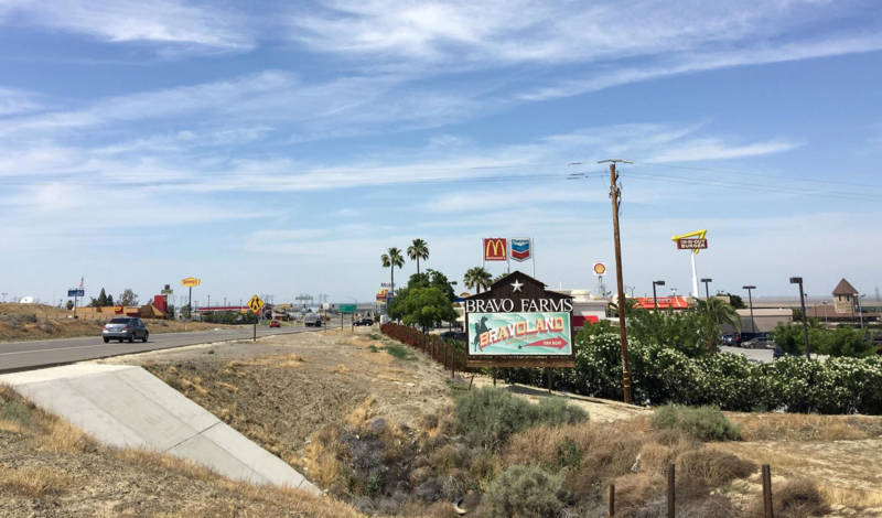 Kettleman City is one of the largest rest stops on Interstate 5 between Los Angeles and San Francisco.