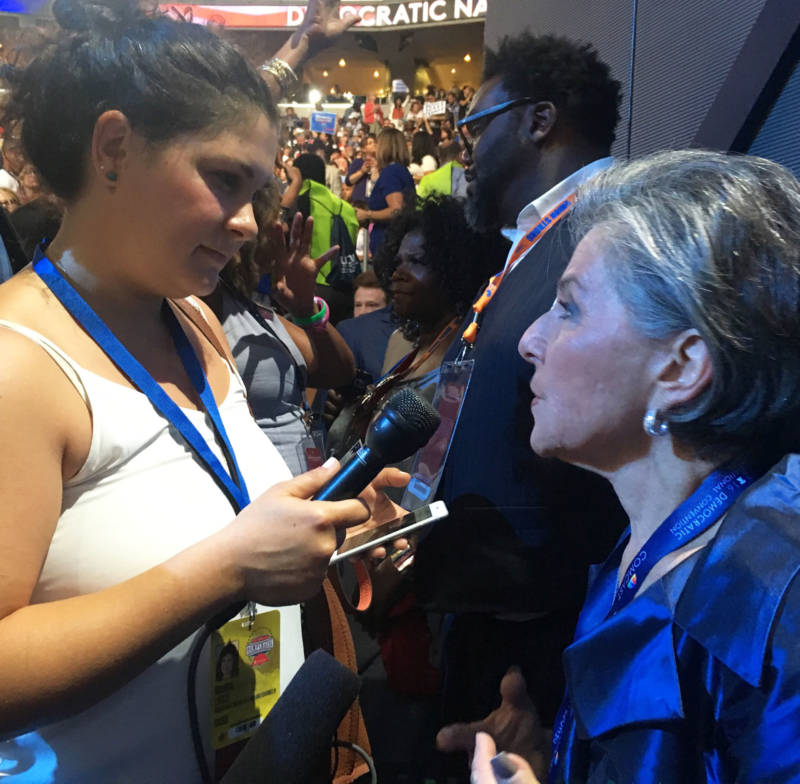 Marisa Lagos interviews Sen. Barbara Boxer at the Democratic National Convention.