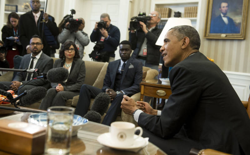 President Barack Obama speaks about immigration reform during a meeting with young immigrants in the White House on Feb. 4. 2015. The Supreme Court recently froze the president's 2014 executive actions on immigration, continuing a legal dispute over his policies.