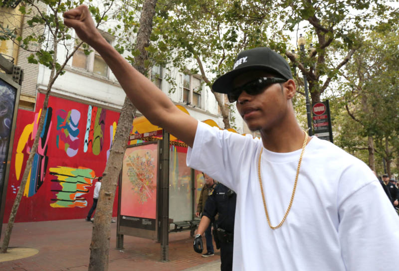 """Devon Parks said he was there to bring a presence to the protests. """"We should have equality."""""""