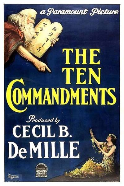 1923 Movie poster advertises DeMille's 1923 silent epic that was filmed at the Guadalupe-Nipomo dunes. Credit: Paramount Pictures
