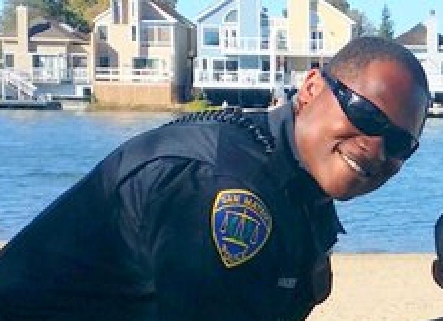 San Mateo Police Officer Winchester in August, 2015.