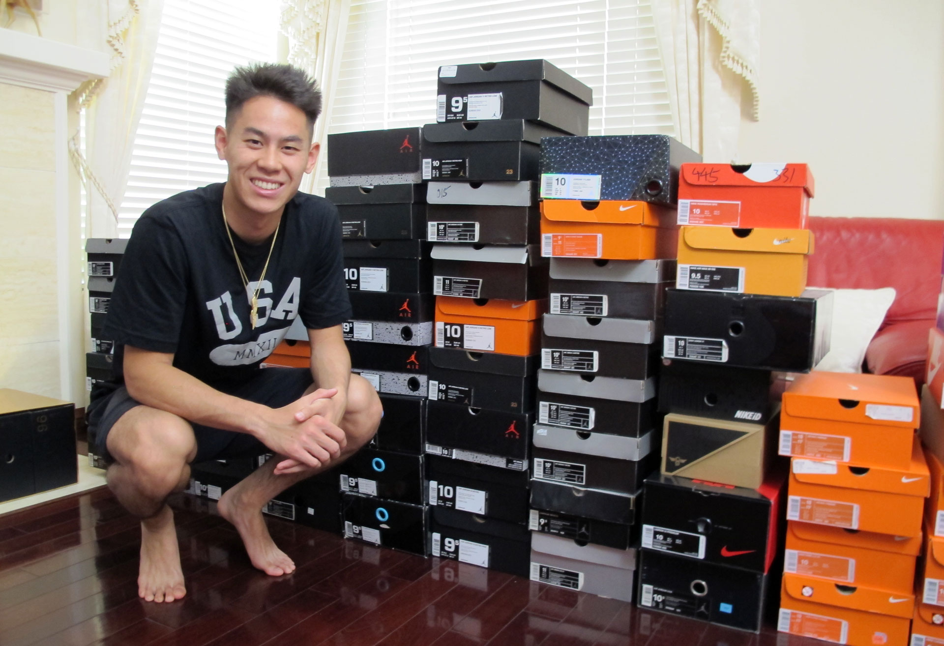 Anaheim's Howard Shu is competing in badminton at this summer's Olympic Games in Rio de Janeiro, Brazil. He's also a shoe collector, with over 100 pairs.