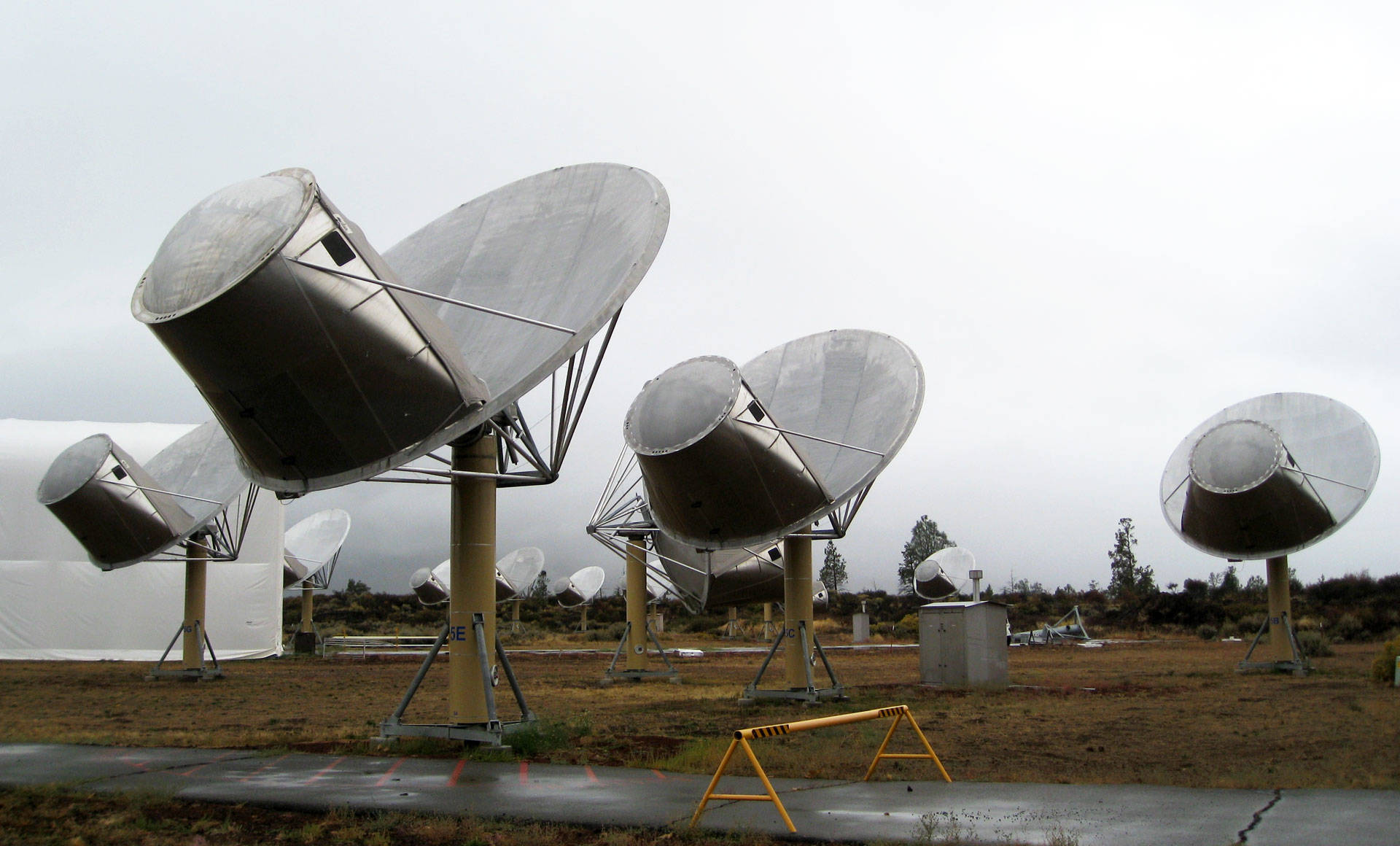 The SETI Institute's Allen Telescope Array in Hat Creek has been turned toward HD 164595 since Sunday evening, looking for a repeat of the signal. J Brew/Flickr