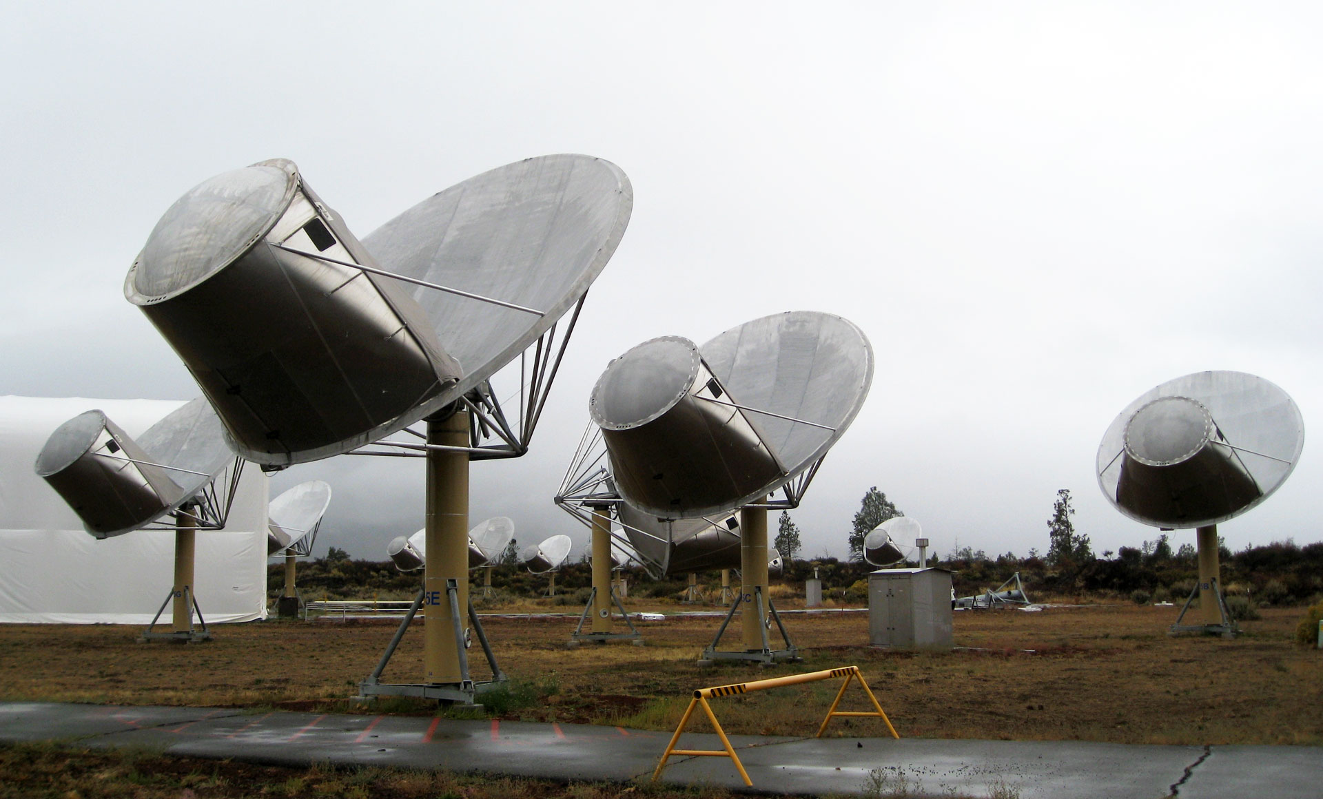 The SETI Institute's Allen Telescope Array in Hat Creek has been turned toward HD 164595 since Sunday evening, looking for a repeat of the signal.