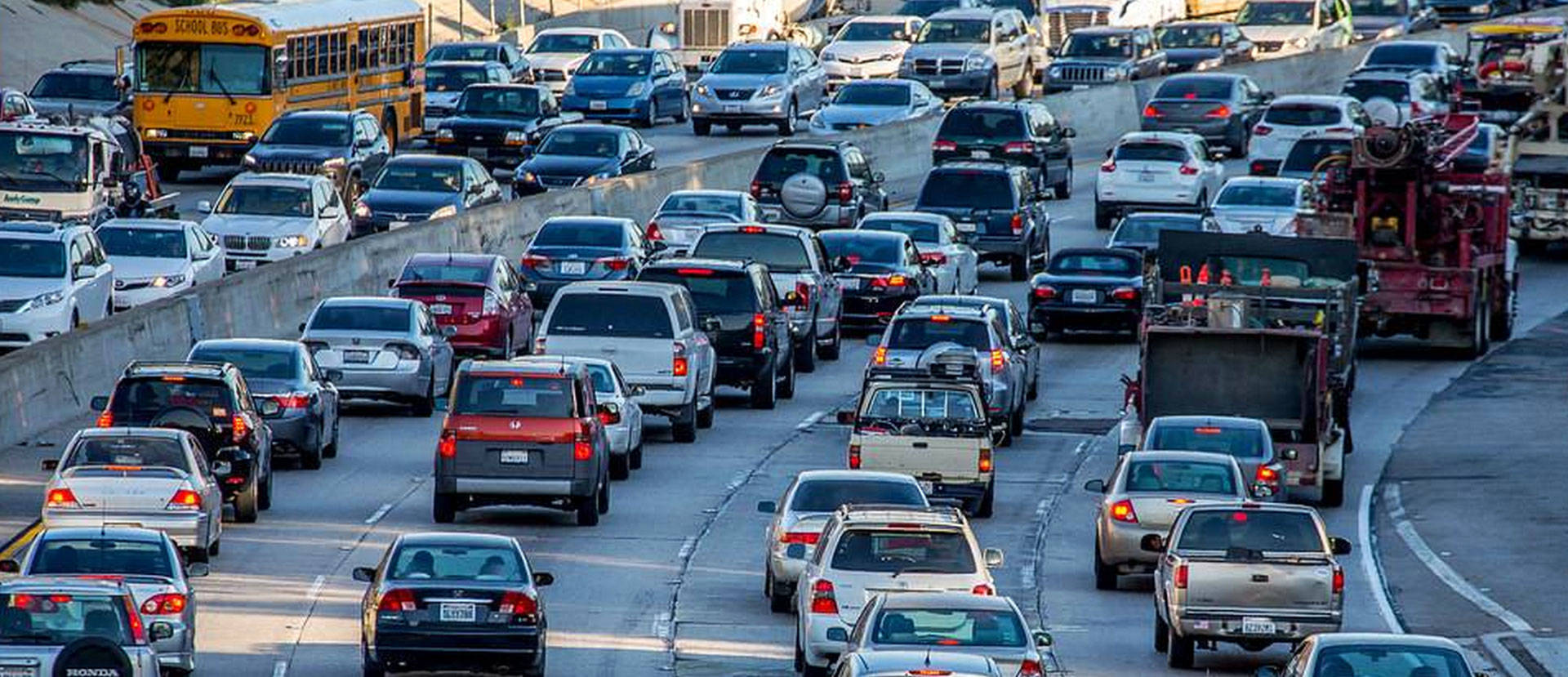 The traffic clogging California's roadways spews streams of greenhouse gases into the air. Eric Demarcq/Creative Commons