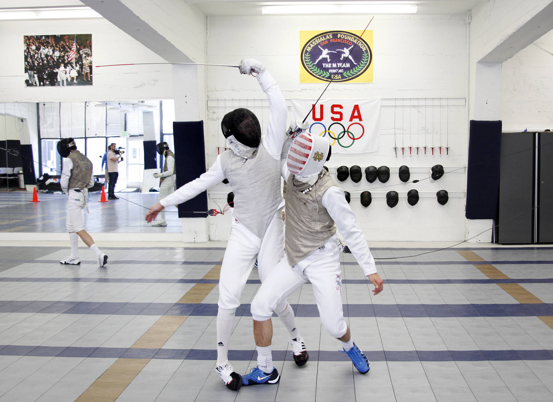 Race Imboden (left) and Gerek Meinhardt (right) collide during a practice. Both are heading to compete at the Olympics in Rio.  Brittany Hosea-Small/KQED