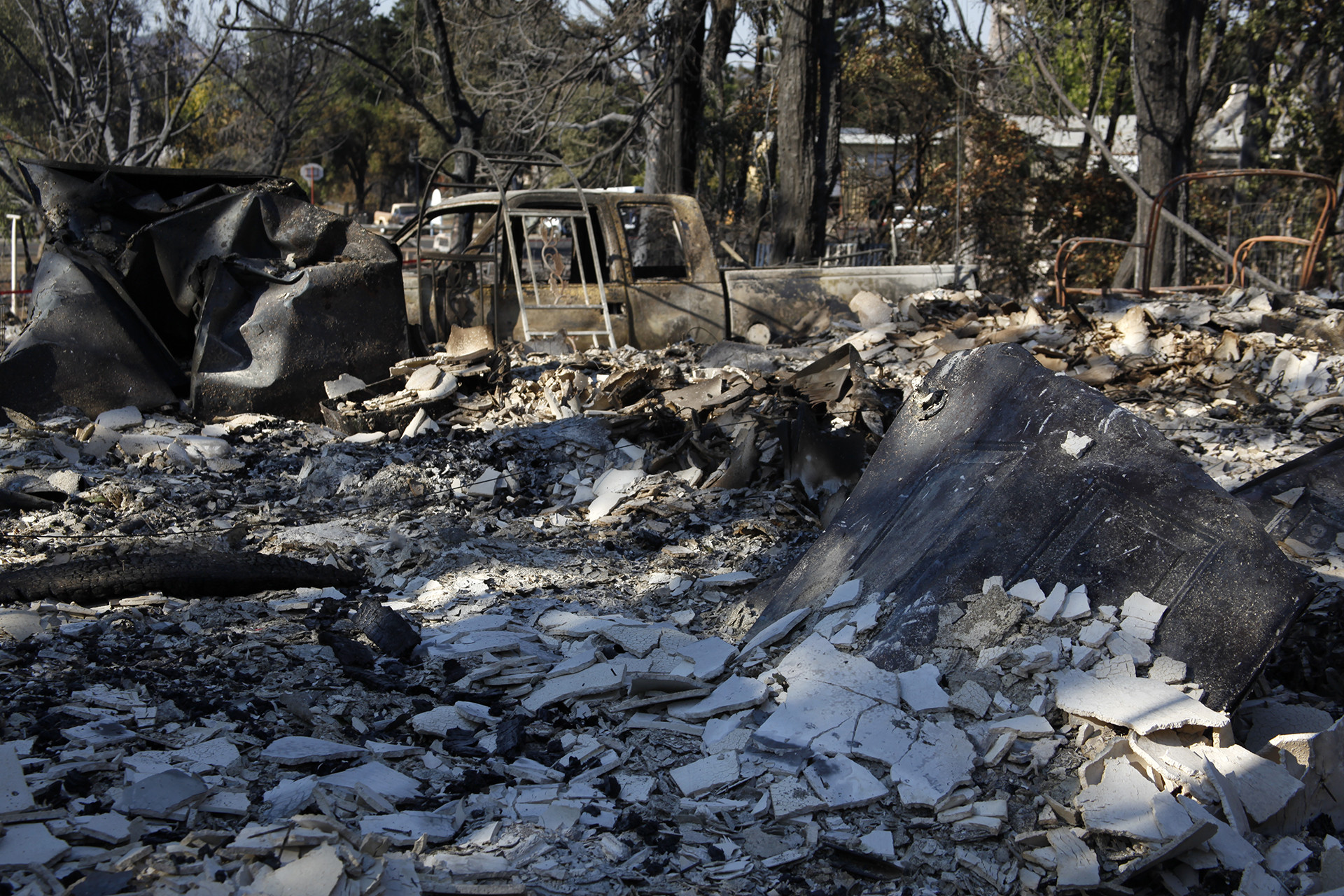 All that remained of the Skidmores' home and eight rental cabins after the Clayton Fire in mid-August.