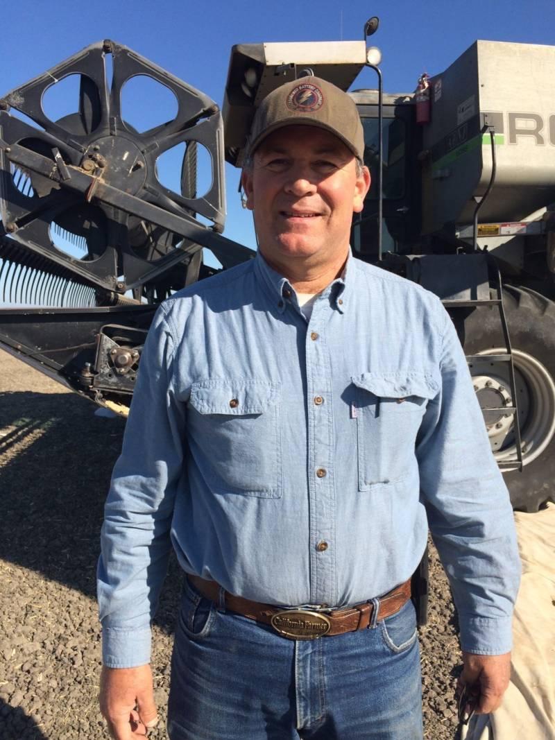 Third-generation farmer Jeff Merwin farms alfalfa and seed crops in Clarksburg.