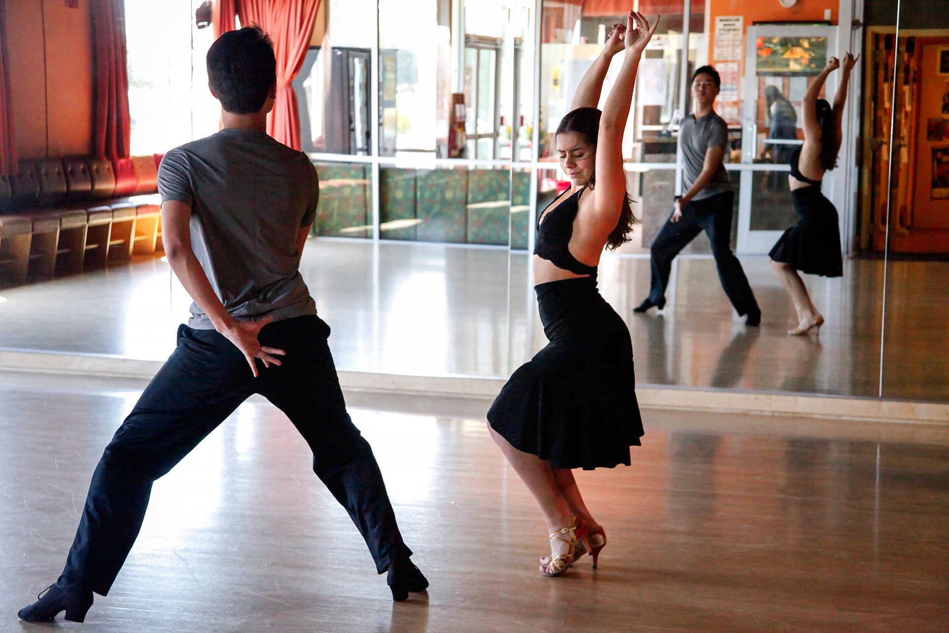 Bumchin Tegshjargal started dancing with his partner. Michelle Klets, a year and a half ago. In that short time, they've become one of the country's top young couples in Latin dance.