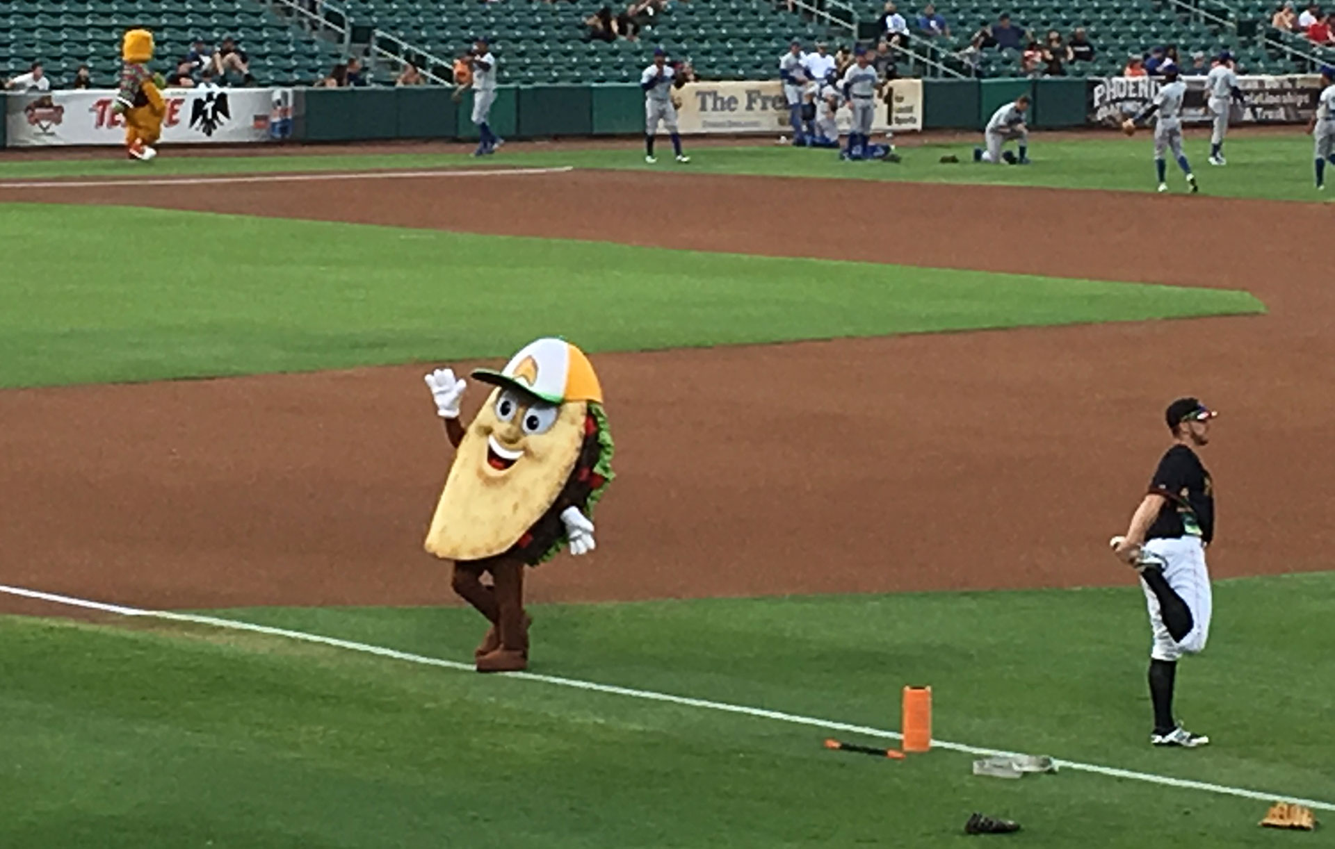 Twice a year, the Fresno Grizzlies become the Fresno Tacos, replete with mascot Cilantro Gomez.