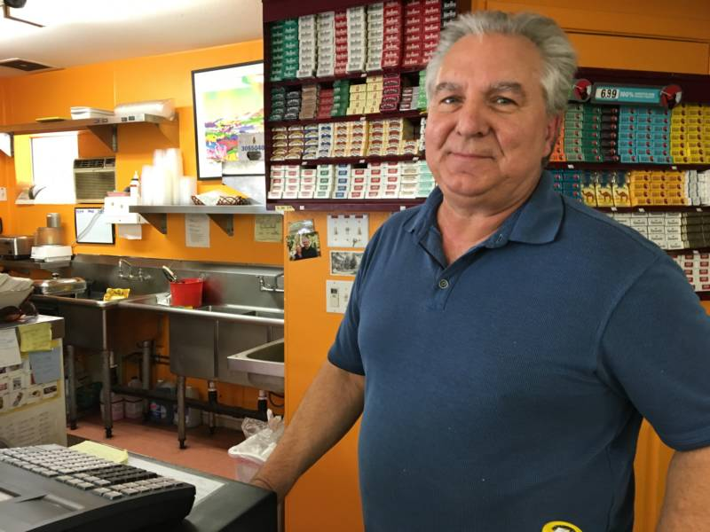 Dean Nicolaides runs the small corner store in Loch Lomond. He lost his home in the Valley Fire.
