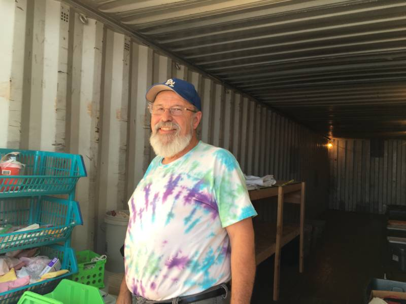 For the past year retired schoolteacher Dave Geck volunteered to help victims of the Valley Fire.