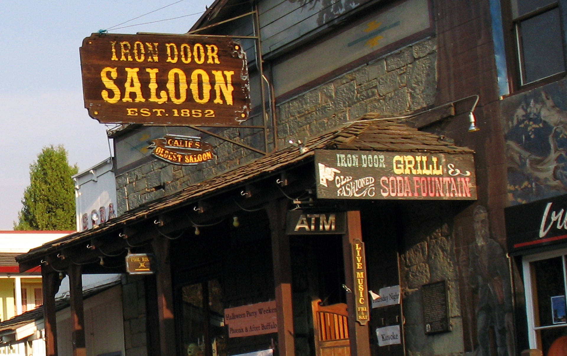 The Iron Door Saloon in Groveland claims to be California's oldest continuously operating bar. Ahren/Flickr