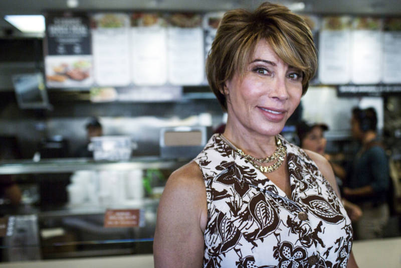 Michaela Mendelsohn is a transgender activist, public speaker and businesswoman. Mendelsohn stands inside an El Pollo Loco franchise she owns on July 14, 2016.