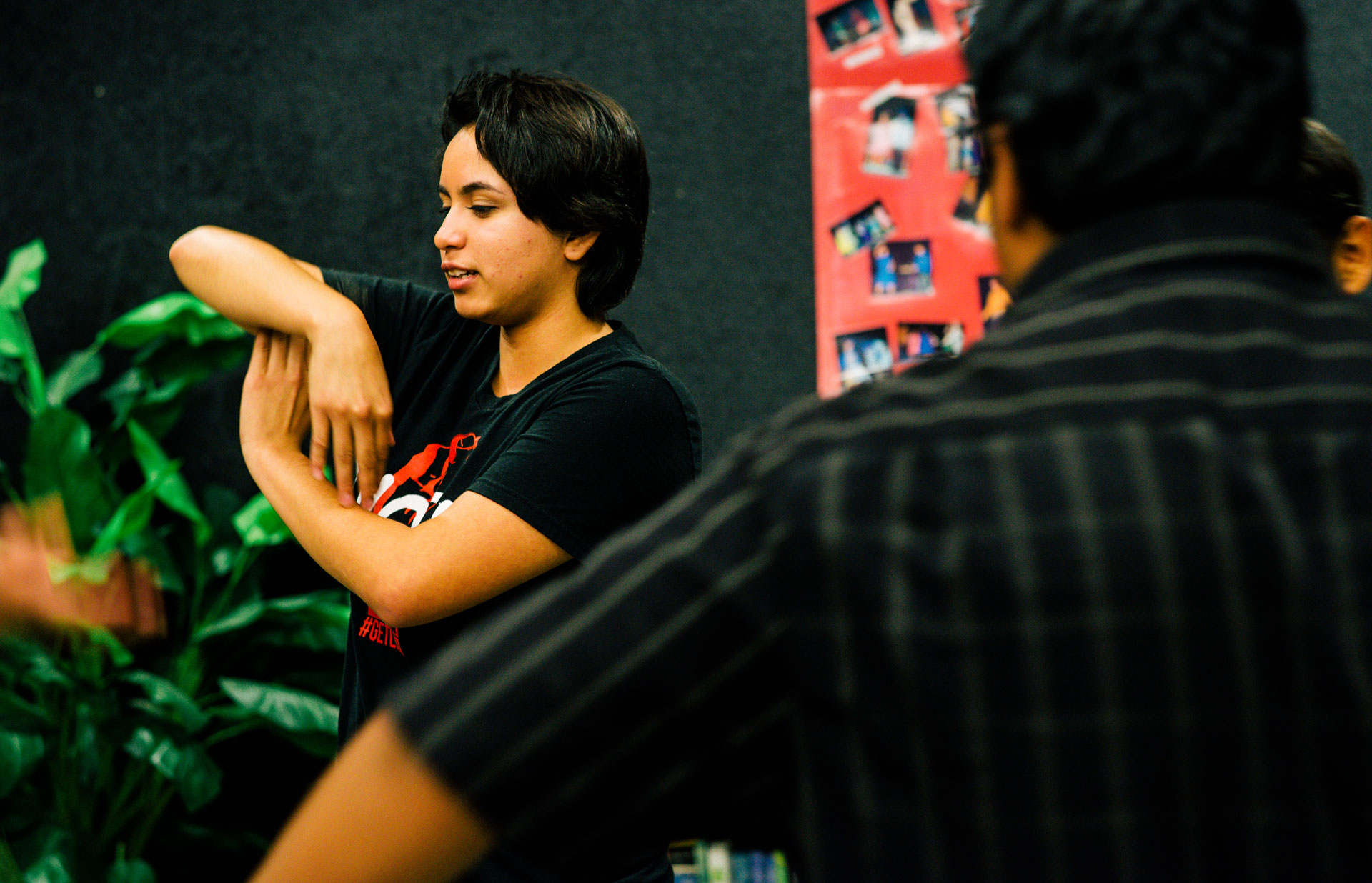 """Rosy Mendez in her improv class at Desert Mirage High School. """"I love photography and drama,"""" she says. """"But my dream is to become an engineer."""""""