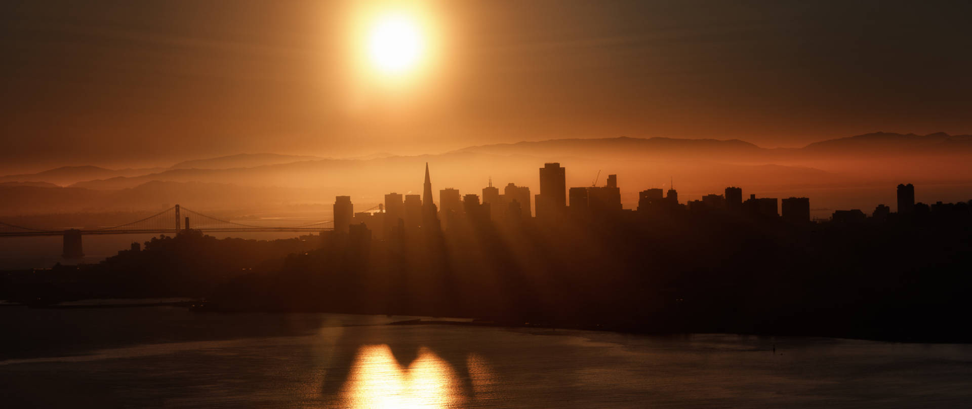 A view of San Francisco from the Marin headlands.