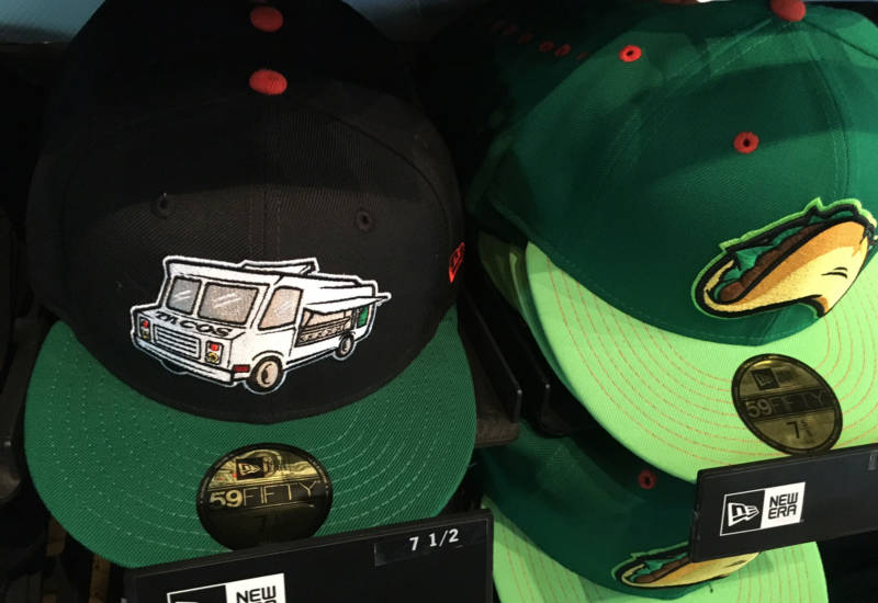 Taco-themed hats are helping the Fresno Grizzlies toward what they hope will be a merchandise sales record this year.
