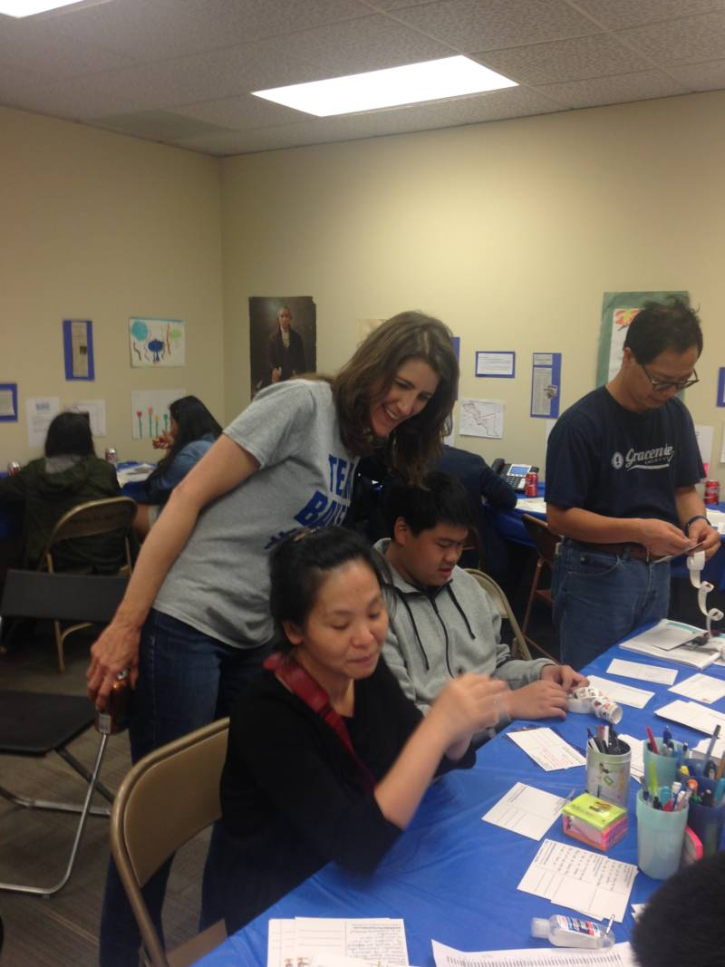 Assemblywoman Catharine Baker during a phone bank for her re-election campaign in San Ramon, CA.