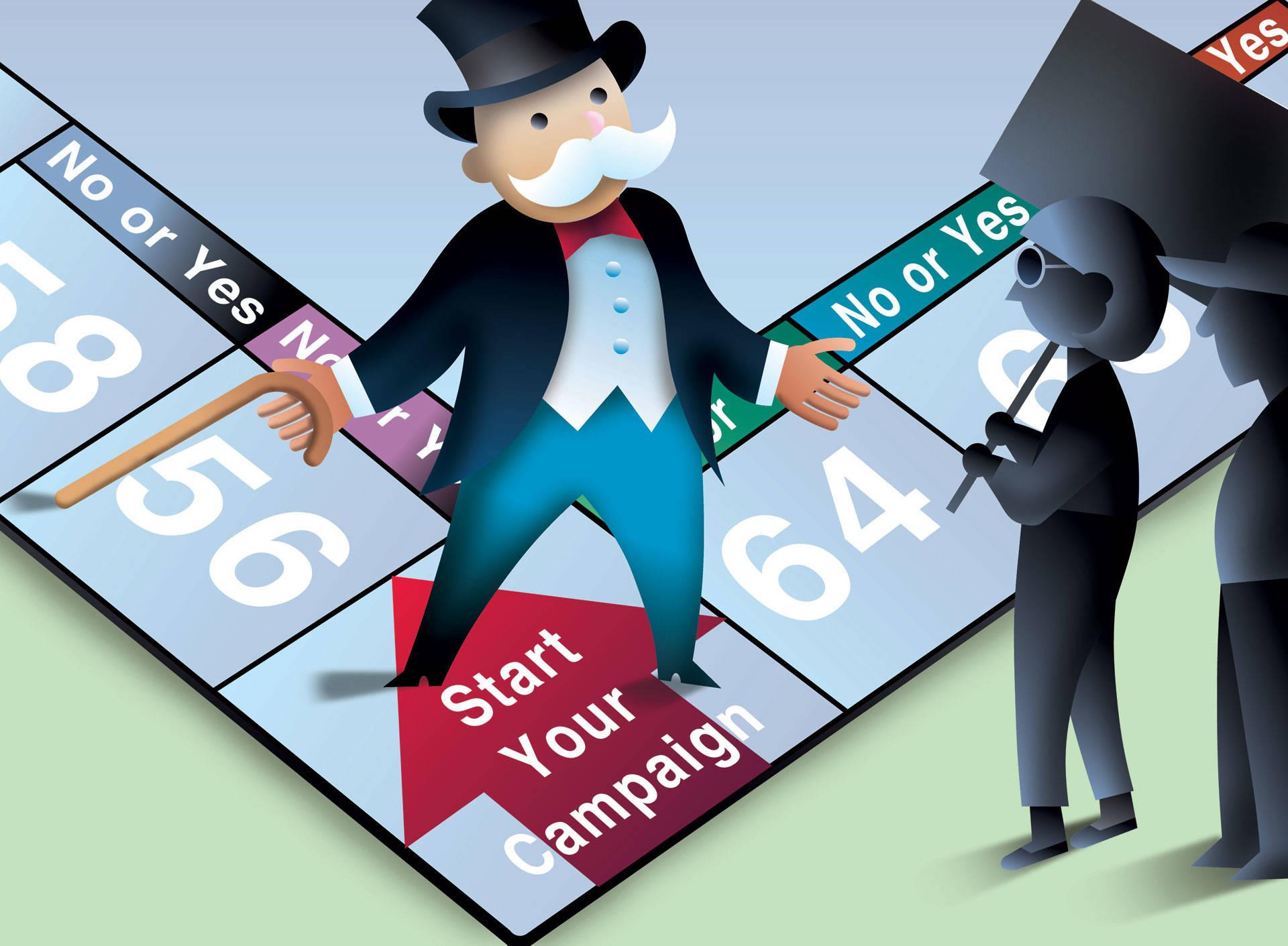 Domain name landlords have cornered the market on valuable internet real estate. Image by Dan Hubig