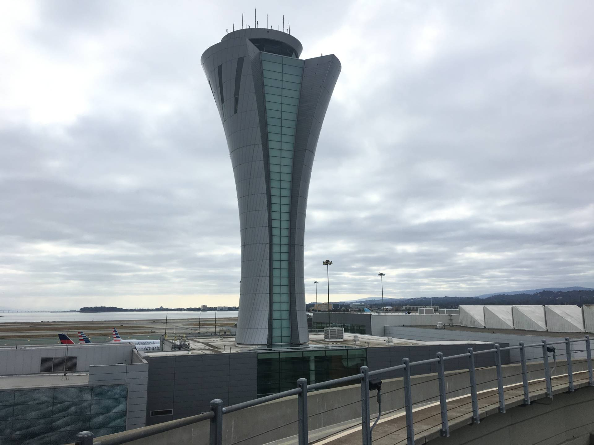 The new tower sits between terminals 1 and 2 at SFO.