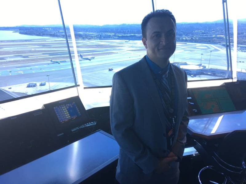 Frederick Naujoks, local president of the National Air Traffic Controllers Association and a seven-year veteran at SFO