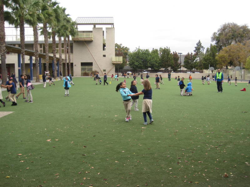 Children play at Horace Mann Elementary in San Jose Unified School District.