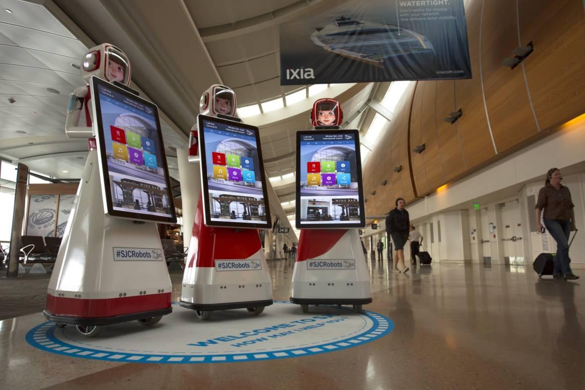 Hello Humans! Robots Help Travelers Navigate San Jose Airport