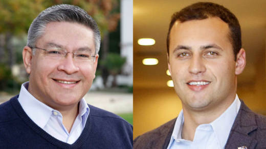 Democrat Salud Carbajal (L) and Republican Justin Fareed are running for an open congressional seat on the Central Coast.
