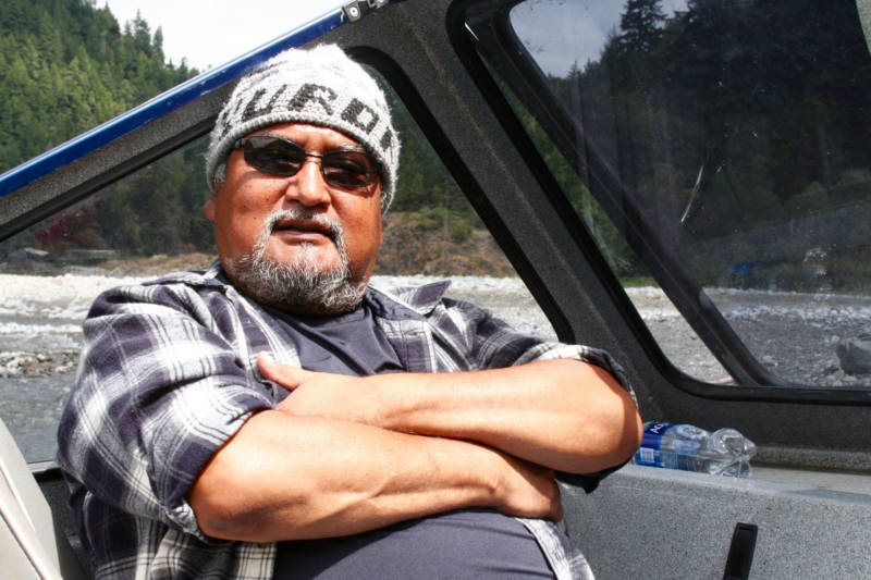 Yurok Tribal Vice Chair David Gensaw, Jr. is worried about the future of salmon and trout in tribal waters near where the Klamath meets the sea.