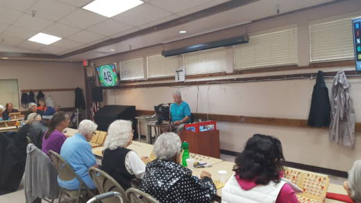 Seniors play bingo at the Neil Orchard Senior Activities Center in Sacramento.