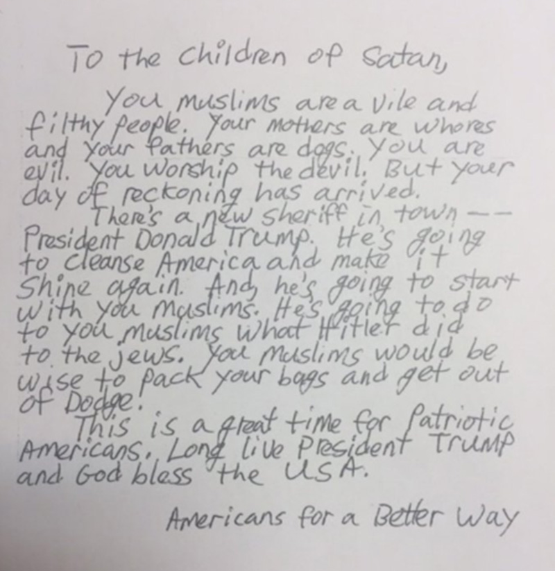 Bay Area Mosque Draws Support After Receiving Hate Letter