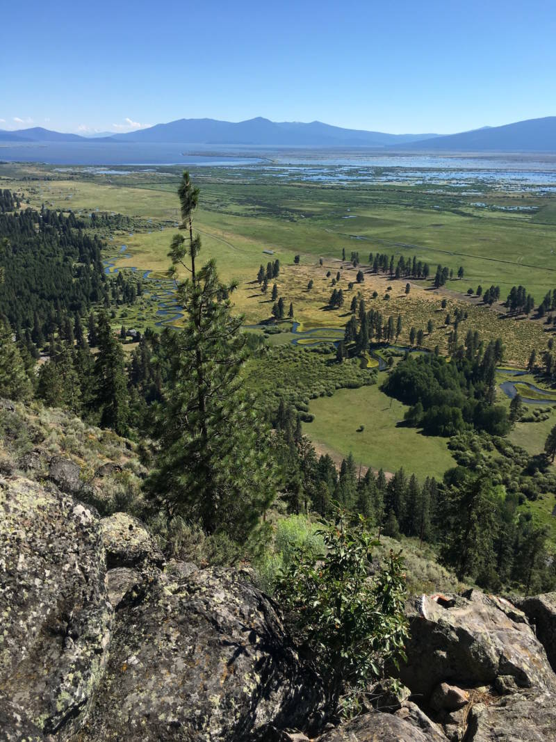 The headwaters of Upper Klamath Lake, seen from the Wood River Valley in Oregon, are subject to a number of competing water rights from different groups.