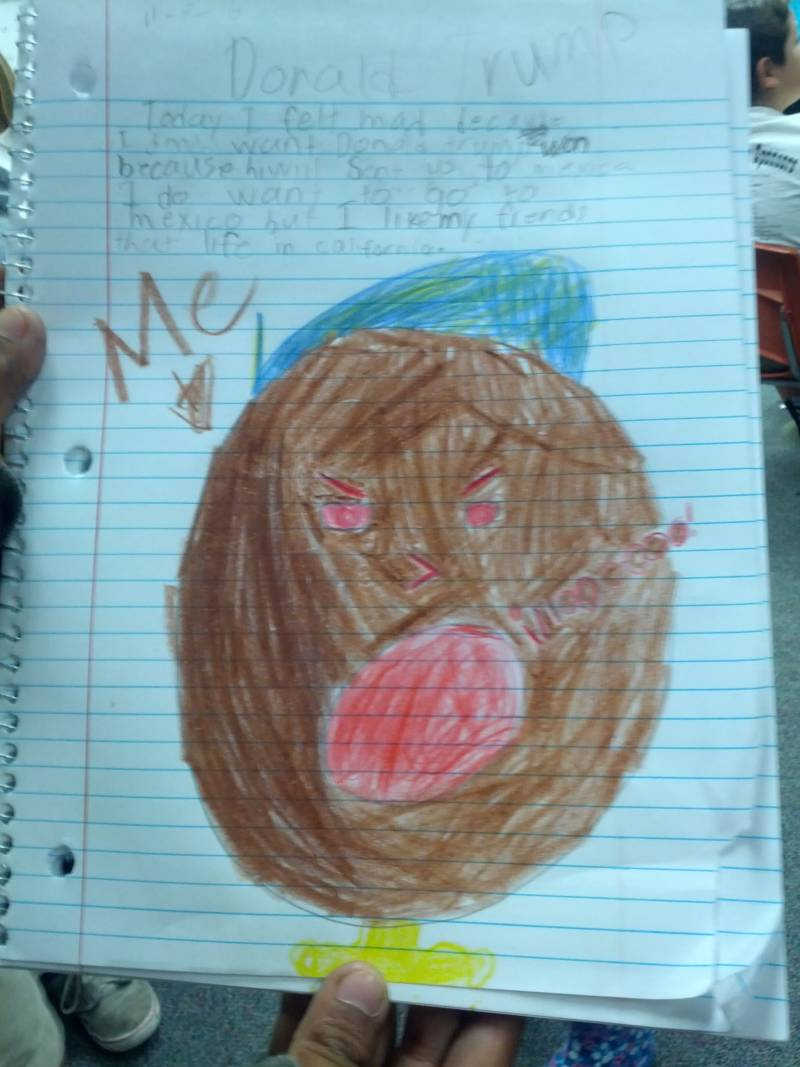One third grader expressed his feelings after the election this way.