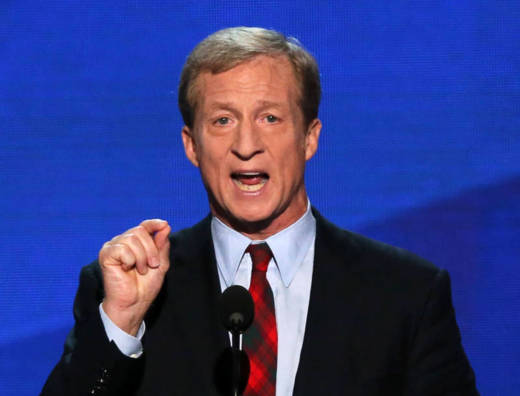 Co-Founder of Advanced Energy Economy Tom Steyer speaks during the Democratic National Convention at on Sept. 5, 2012 in Charlotte, North Carolina.