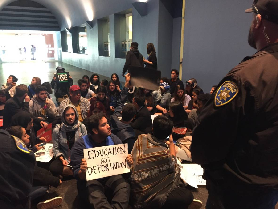 UC Students Protest at Regents Meeting Over Proposed