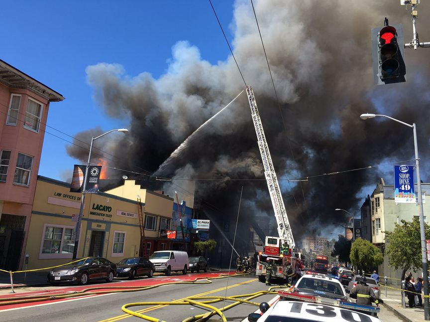 Cigarette or BBQ Coals May Have Sparked Huge Mission Street Fire