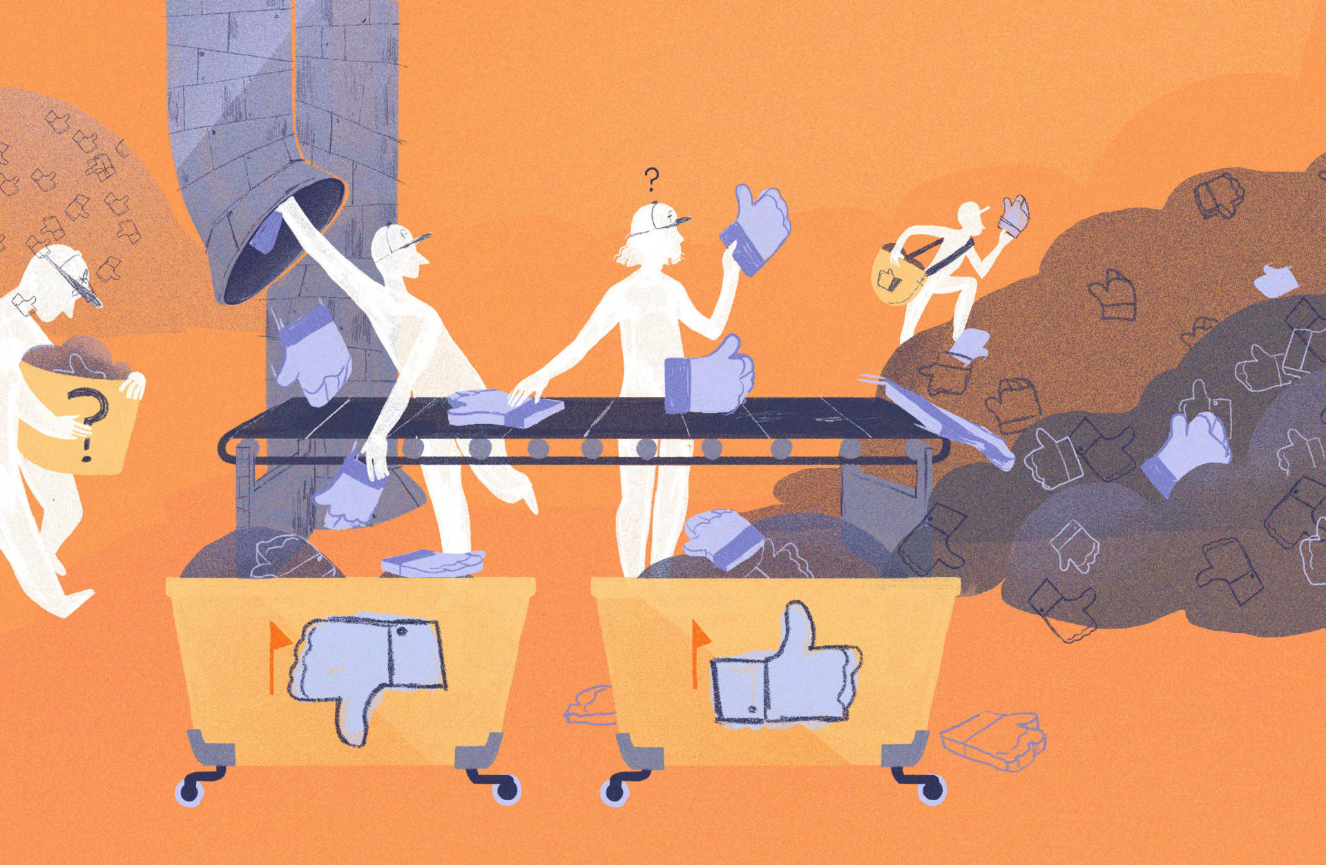 How does Facebook decide when to take down controversial images and posts? Chelsea Beck/NPR