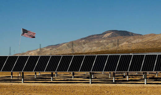 The Barren Ridge solar project in Kern County, California.