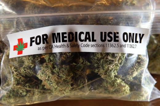 A one-ounce bag of medicinal marijuana