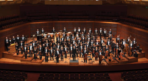 The San Francisco Symphony led by Conductor Michael Tilson Thomas.