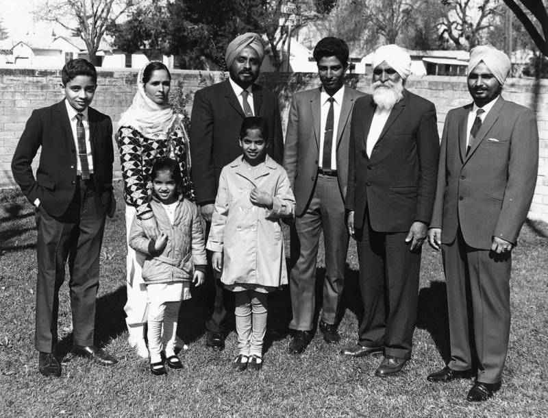 Mohinder Ghag (third from left) and his family in the mid-1960s.