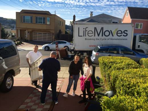 The Aucars move into their new home in Daly City after much help from LifeMoves