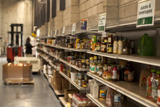 Food donations at the SF-Marin Food Bank.