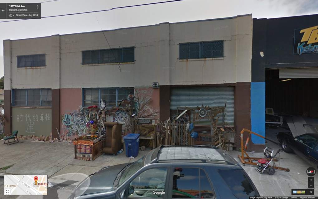 Google Street View image of 1307 31st Avenue in Oakland, dated August, 2014.
